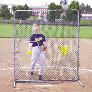 Jugs Quick snap Softball Screen with Ball Pouch, 6   Feet  Baseball Protective Screens  Sports & Outdoors