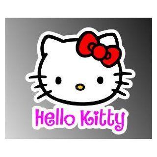"Hello Kitty car bumper sticker decal 5"" x 4"""