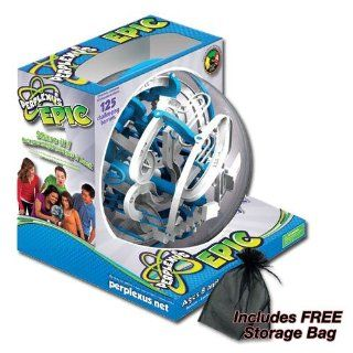 Perplexus Epic Maze Game by PlaSmart 125 Challenging Barriers with FREE Storage Bag: Toys & Games