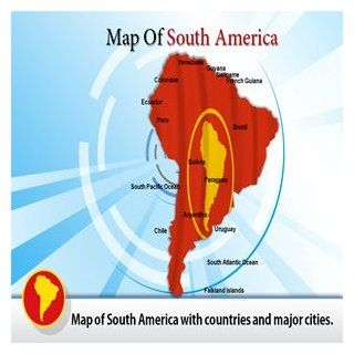Map of South America Powerpoint Template   Map of South America Powerpoint Themes Software