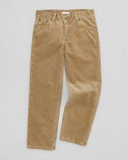Boys Corduroy Jeans, Beige, 4Y 10Y   Oscar de la Renta