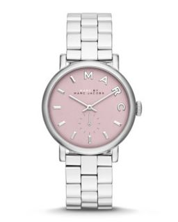 36mm Baker Analog Watch with Bracelet Strap, Stainless Steel/Rose   MARC by