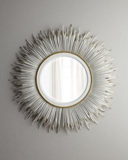 White Porcupine Quill Mirror   Janice Minor