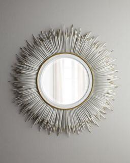 White Porcupine Quill Mirror   Janice Minor