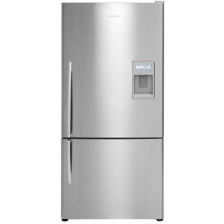 Fisher Paykel 17.6 Cu. Ft. Stainless Steel Bottom Freezer Refrigerator   E522BLXU2: Appliances