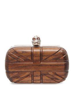 Britannia Wooden Skull Box Clutch   Alexander McQueen