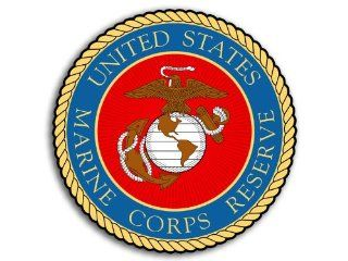 ROUND Marine Corps RESERVE Seal Sticker (usmc decal)