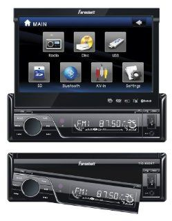 Fahrenheit TID 893 In Dash Source Unit DVD Player Single DIN with 7   Inch Touchscreen Flip Out Monitor  Vehicle Dvd Players