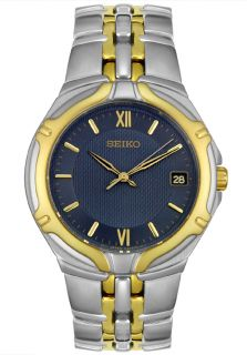 Seiko SGE514  Watches,Mens   Two Tone Blue Dial, Casual Seiko Quartz Watches