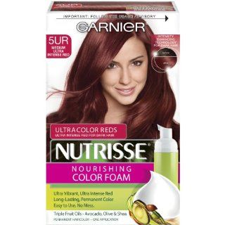 Garnier Nutrisse Nourishing Color Foam, 5UR Medium Ultra Intense Red : Hair Styling Foams : Beauty