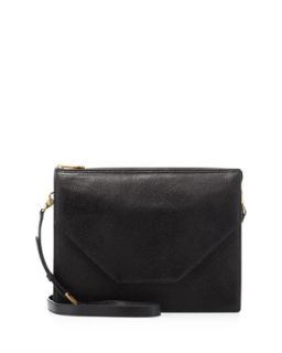 Kirsten Pebbled Crossbody Bag, Black   Eric Javits