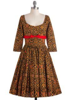 Bernie Dexter Tulip Tea Party Dress in Flourishes  Mod Retro Vintage Dresses