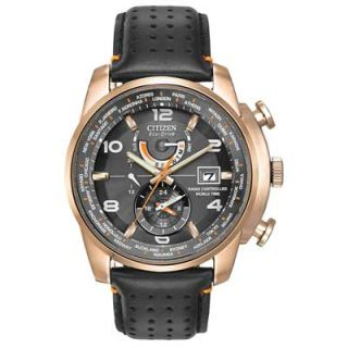 Mens Citizen Eco Drive™ World Time A T Watch (Model: AT9013 03H