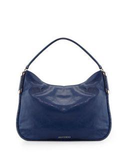 Zoe Leather Hobo Bag, Cobalt   Jimmy Choo