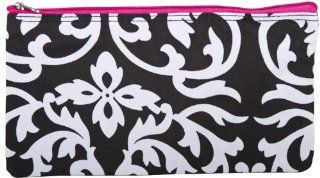 Damask Hot Pink Cosmetics Bag Case Small909 : Pencil Case : Beauty