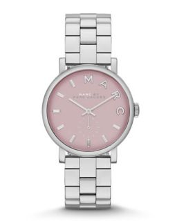 28mm Baker Analog Watch with Bracelet Strap, Stainless Steel/Rose   MARC by