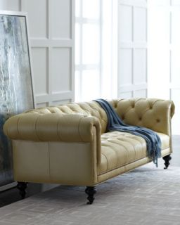 Fenway Tufted Leather Sofa   Old Hickory Tannery