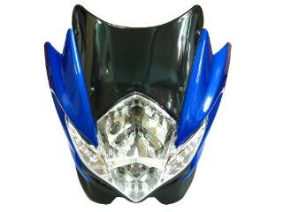 Blue Streetfighter Nake Headlight Head Light Fits Ducati Yamaha Kawasaki Suzuki: Automotive