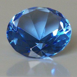 "Mother's Day Special: Clear Blue Glass Crystal Diamond Shaped Paperweight 2.25"" : Sports Fan Paper Weights : Sports & Outdoors"