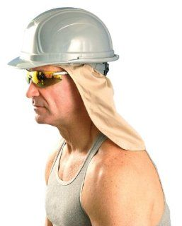 Cooling Hard Hat Neck Shade, w/ Terry Sweatband, One Size, Khaki, #971   Hard Hat Sun Shade