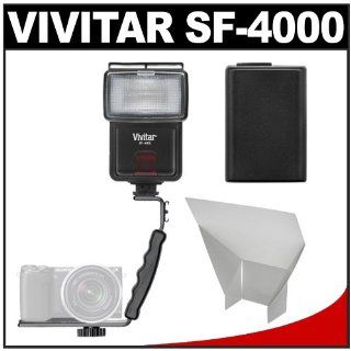 Vivitar SF 4000 Auto Bounce Zoom Slave Flash with Bracket + NP FW50 Battery + Flash Reflector + Accessory Kit for Sony Alpha A7, A7R, A3000, A5000, A6000, NEX 3N, 5T, 6, 7 Digital Cameras : Digital Camera Accessory Kits : Camera & Photo