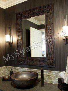 Large WOVEN SEA GRASS Wall Mirror   Wall Mounted Mirrors