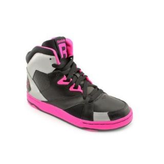 Reebok Femme devil Mid Women's Athletic Casual Sneakers Shoes Black and Pink (8): Shoes