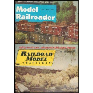 Model Railroading Vintage 6 Magazine Collection Introduction to Scale MR, Beginner's Guide to HO MR, Practical Guide to MR, HO Primer MR For All, 1973 MR Magazine, 1975 Railroad Model Craftsman Magazine Atlas Model Railroad, Linn H. Westcott, Kalmbac