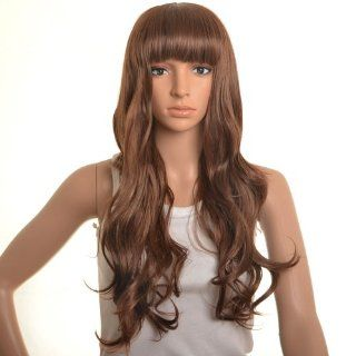 Long Wavy Brown Wigs Full Lace Wigs Human Hair Wigs Lace Front Wigs Wigs For Women Costume Wigs Cheap Wigs  Hair Replacement Wigs  Beauty