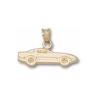 "1/4"" Chevy Corvette C4 Silhouette Pendant   Gold Plated Jewelry: Sports & Outdoors"