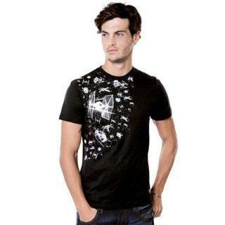 Star Wars Mark Ecko Tie Fighter Foiled Fight Scene Mens Shirt (Large) Clothing