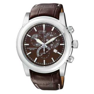 Mens Citizen Eco Drive™ Stainless Steel Chronograph Watch with
