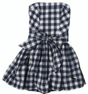 Abercrombie & Fitch Women's Fiona Check Dress (Navy Blue & White Check) (Medium) at  Women�s Clothing store: