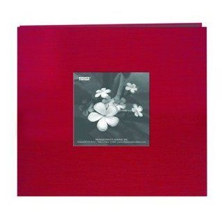 """Pioneer Silk Fabric Frame Memory Album with Solid Color Cover, 8"""" x 8"""" Scrapbook with 10 E Z Load Archival Pages & Inserts"""