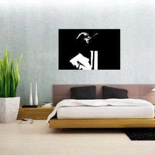 """Oasis Liam Galagher Wall Graphic Decal Sticker 25"""" x 16""""   Wall Decor Stickers"""