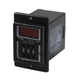 AC 110V 1 999 Second Digital Timer Time Delay Relay Black 8 Pin ASY 3D   Wall Timer Switches