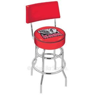 Alabama Crimson Tide Elephant Logo Chrome Double Ring Swivel Bar Stool with Back : Sports Fan Barstools : Sports & Outdoors