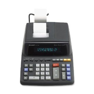 Sharp EL 2196BL Heavy Duty Color Printing Calculator with Clock and Calendar  Calculator With Tape  Electronics