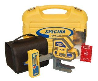 Spectra Precision 5.2XL 2 Point and Cross Line Laser Package with HR220 Receiver   Spectra Laser Level