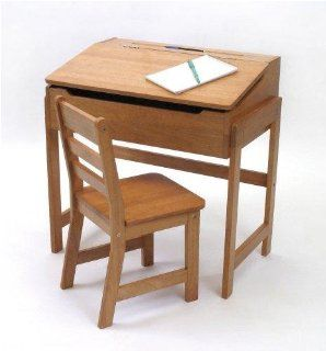 Shop Lipper International Child's Slanted Top Desk And Chair   Pecan at the  Furniture Store