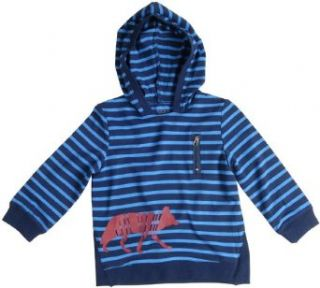 Egg By Susan Lazar Jersey Wolf Hoodie   Navy Stripe: Clothing