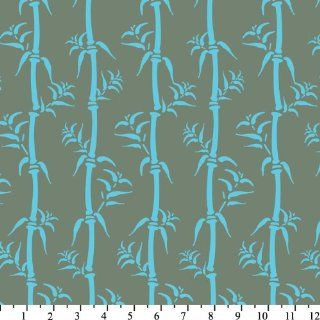 Osaka Bamboo Gray Blue Quilt Cotton Fabric By The Yard