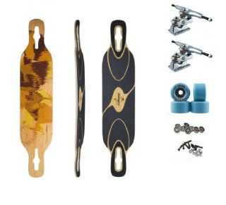 "Loaded Bamboo Drop Thru Double Kick Dervish Sama Flex 2 Freeride Longboard Skateboard Deck Complete 41.5"" W/ Gullwing Sidewinder Trucks Abec 11 Centerset Slide Wheels : Gullwing Sidewinder Ii Deck : Sports & Outdoors"