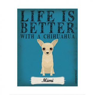Personal Creations Life is Always Better Dog Breed Art   Chihauhua