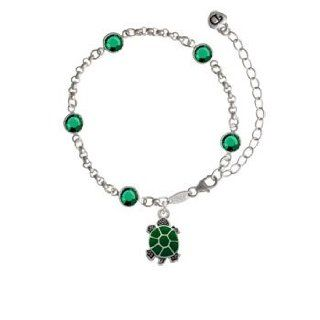 Turtle   Top Emerald Fiona Bracelet: Delight Jewelry: Jewelry