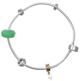 Amadora Silver Bracelet & Three Charm Set       Womens Accessories