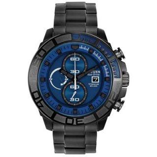 Mens Citizen Eco Drive Super Titanium Watch with Blue Dial (Model