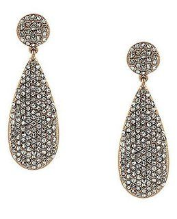 Vince Camuto Earrings, Gold Tone Pave Crystal Drop Earrings Dangle Earrings Jewelry