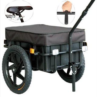 Veelar Bicycle Cargo Trailer & Hand Wagon Shopping/Utility Trailer 70 Liter Capacity 20315  Cargo Carrier Bike Trailers  Sports & Outdoors