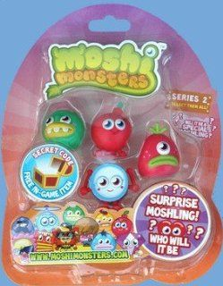 Moshi Monsters Moshlings 5 Figure Pack   Fabio, Cherry Bomb, Fishlips, Wallop & Surprise Figure Toys & Games